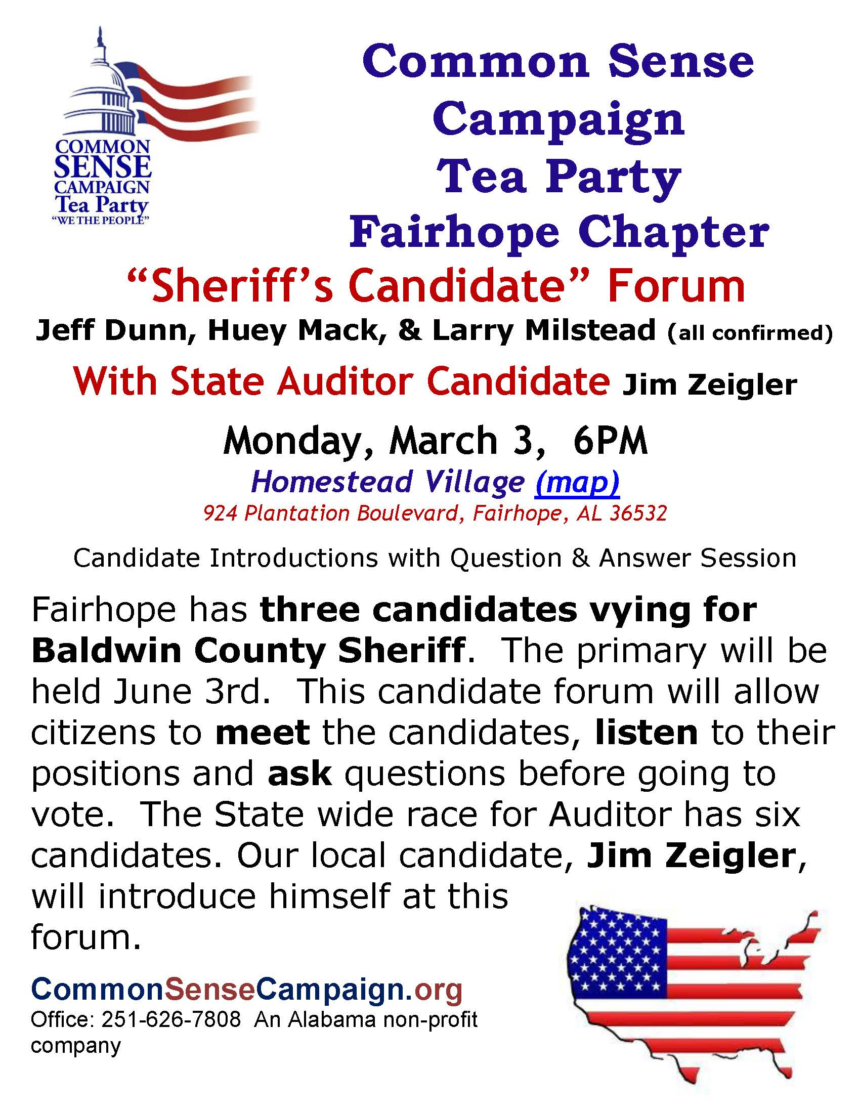 Fairhope-Sheriffs Candidate Forum-3-3-14