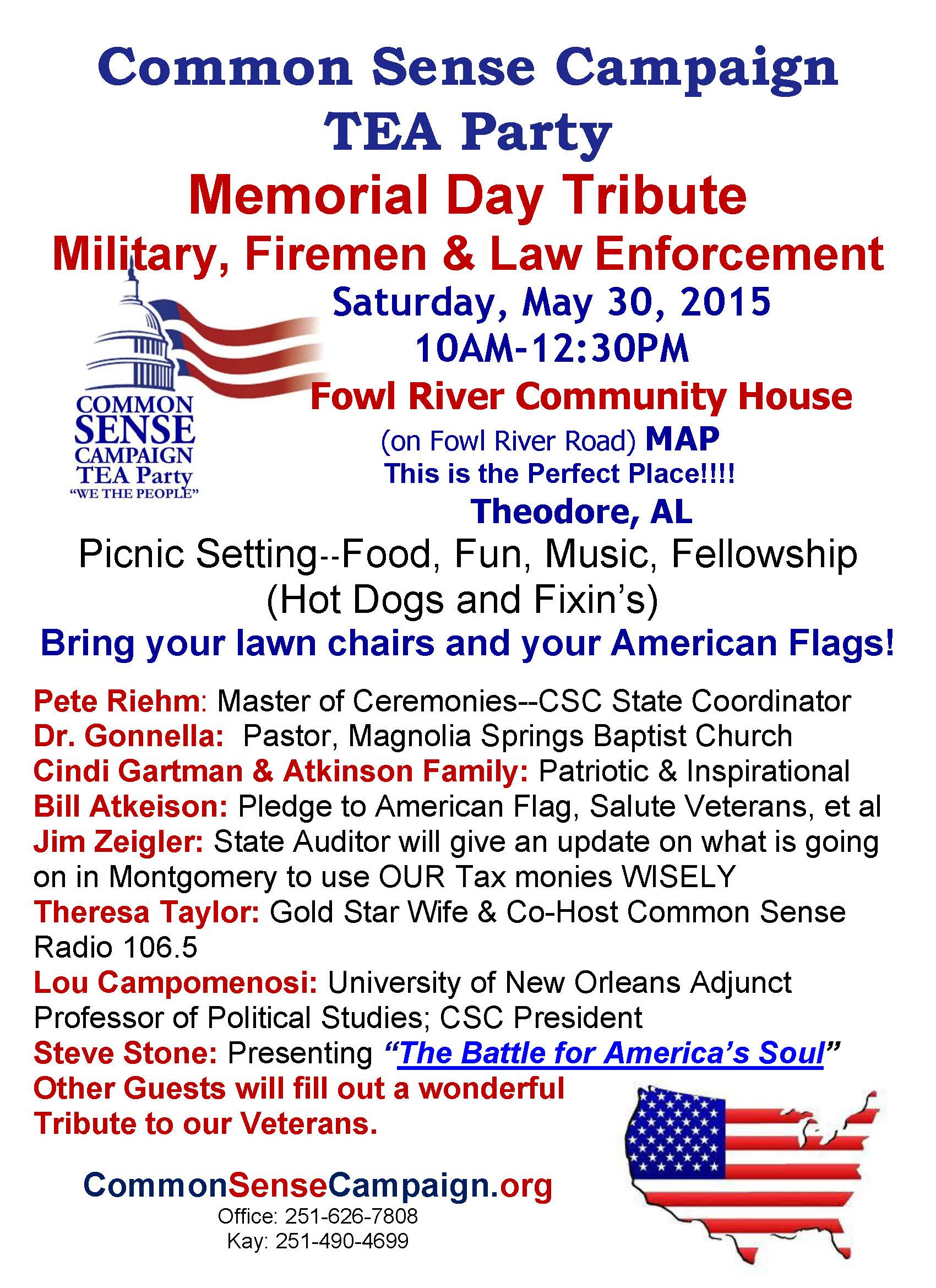 Memorial Tribute-Fowl River-5-30-15