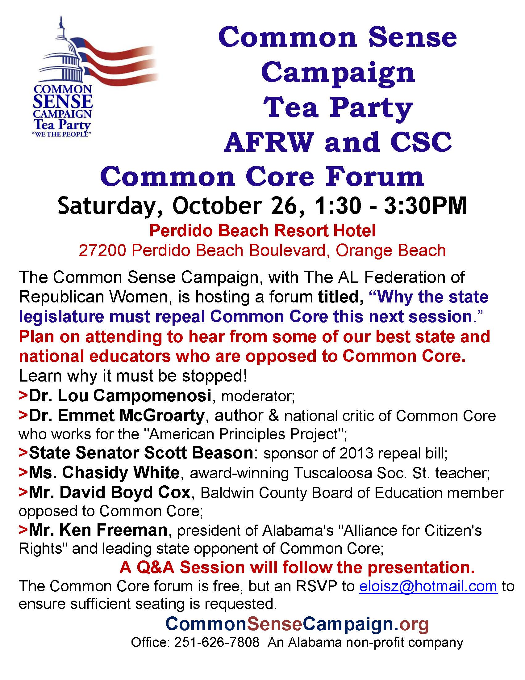 Orange Beach-Common Core Forum-10-26-13