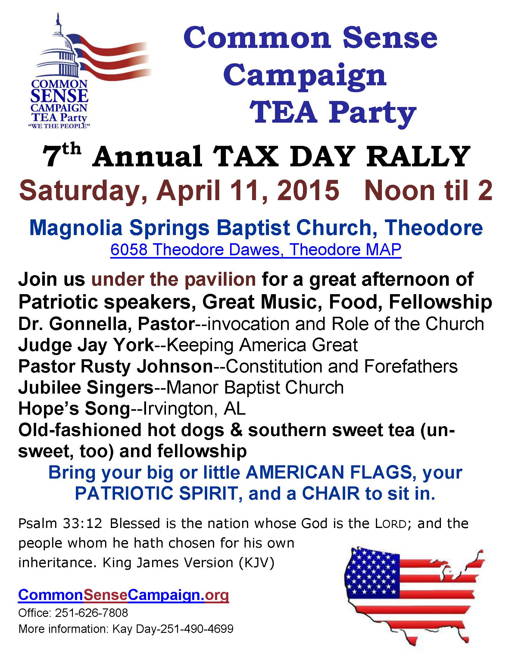 Tax Day Rally 4-11-15