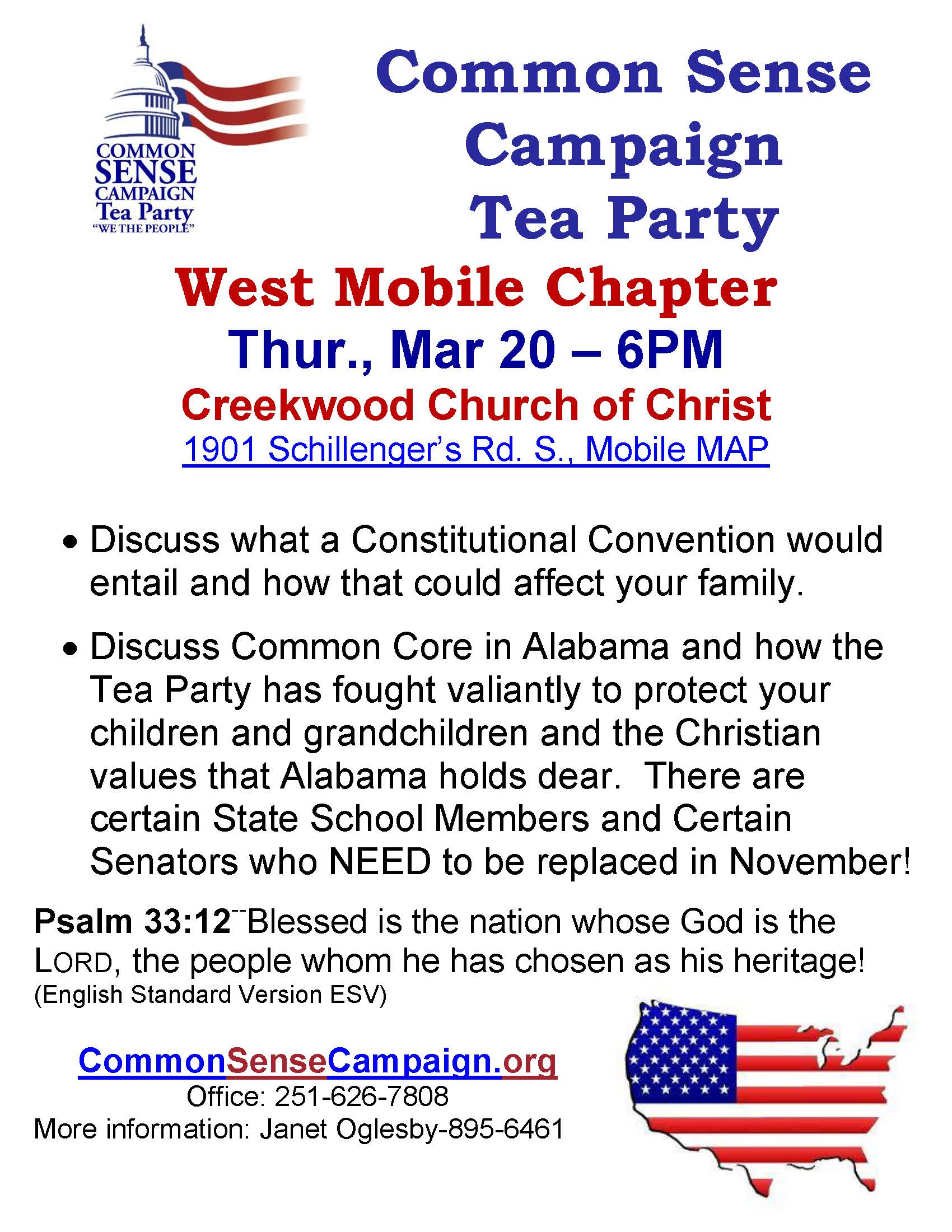 West Mobile-Tea Party Meeting-3-20-14